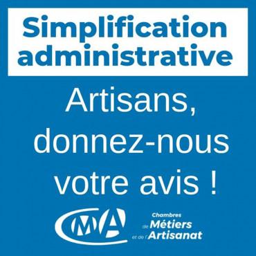 Simplification administrative des artisans