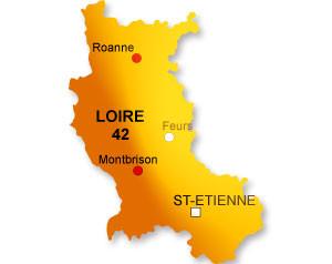 Carte du département de la Loire